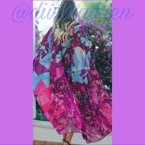 Other - GORGEOUS Geometric Kimono   Duster   Cover Up